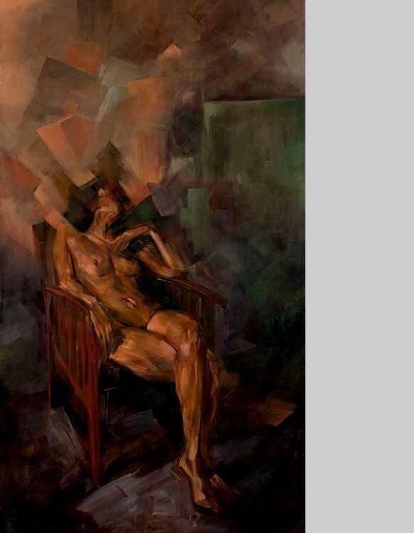 Blanca 2012 óleo lienzo 270 x 130 cm